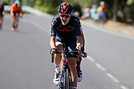 Pavel Sivakov (RUS) Ineos Grenadiers out front during Stage 15 of La Vuelta d'Espana 2021, running 197.5km from Navalmoral de la Mata to El Barraco, Spain. 29th August 2021.     <br /> Picture: Luis Angel Gomez/Photogomezsport | Cyclefile<br /> <br /> All photos usage must carry mandatory copyright credit (© Cyclefile | Luis Angel Gomez/Photogomezsport)