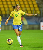 20200310  Calais , France :  Brazilian Rafaelle (22) pictured during the female football game between the national teams of  Brasil and Canada on the third and last matchday of the Tournoi de France 2020 , a prestigious friendly womensoccer tournament in Northern France , on Tuesday 10 th March 2020 in Calais , France . PHOTO SPORTPIX.BE | DIRK VUYLSTEKE
