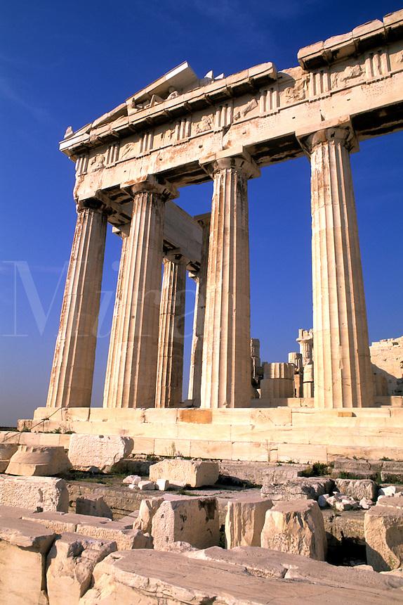 Ancient Greece Parthenon on Acropolis in Athens Greece