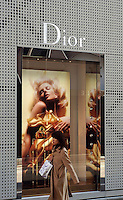 French giant Dior has a large and busy outlet in the Ginza shopping district, Tokyo, Japan..