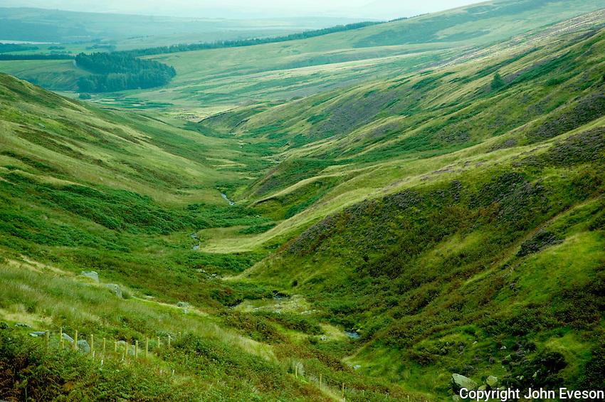 View towards Slaidburn, Lancashire. Forest of Bowland....Copyright..John Eveson, Dinkling Green Farm, Whitewell, Clitheroe, Lancashire. BB7 3BN.01995 61280. 07973 482705.j.r.eveson@btinternet.com.www.johneveson.com