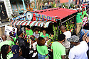 Mr. Okra, Arthur Robinson, is sent out in grand style as family, friends and fan celebrate the produce hawker's life with a secondline funeral through the Faubourg Marigny.