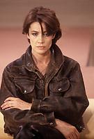 Françoise Hardy<br /> Paris - France<br /> 1986<br /> Credit : Mephisto/DALLE
