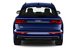 Straight rear view of 2021 Audi Q5 Edition-One 5 Door SUV Rear View  stock images