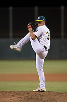 AZL Athletics relief pitcher Reid Birlingmair (39) delivers a pitch during an Arizona League game against the AZL Giants Orange at Lew Wolff Training Complex on June 25, 2018 in Mesa, Arizona. AZL Giants Orange defeated the AZL Athletics 7-5. (Zachary Lucy/Four Seam Images)