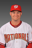 14 March 2008: ..Portrait of Robert Jacobsen, Washington Nationals Minor League player at Spring Training Camp 2008..Mandatory Photo Credit: Ed Wolfstein Photo