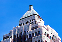 Vancouver: Marine Building, zoom on top. Art Deco, McCarter & Nairn, 1929-30.