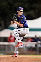 State College Spikes pitcher Kyle Webb (19) during a game against the Jamestown Jammers on September 3, 2013 at Russell Diethrick Park in Jamestown, New York.  State College defeated Jamestown 3-1.  (Mike Janes/Four Seam Images)