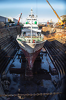 South Africa, Cape Town,Victoria&Alfred waterfronf,ship in the Robinson dry Dock