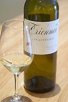 Triennes Les Aureliens white and a glass Domaine de Triennes Nans-les-Pins Var Cote d'Azur France