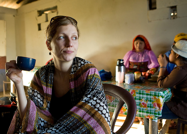 Woman drink coffee in Carti, San Blas Islands, Kuna Yala, Panama