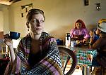 Woman drink coffee in Carti, San Blas Islands, Kuna Yala, Panama