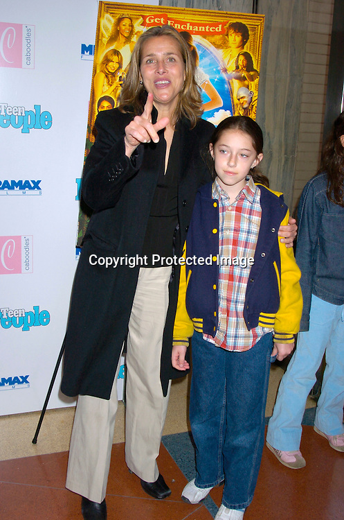"""Meredith Veiera and daughter Lily ..at The Premiere of """"Ella Enchanted""""  on March 28, 2004 ..at the Clearview Beekman Theatre in New York City. ..Photo by Robin Platzer, Twin Images"""
