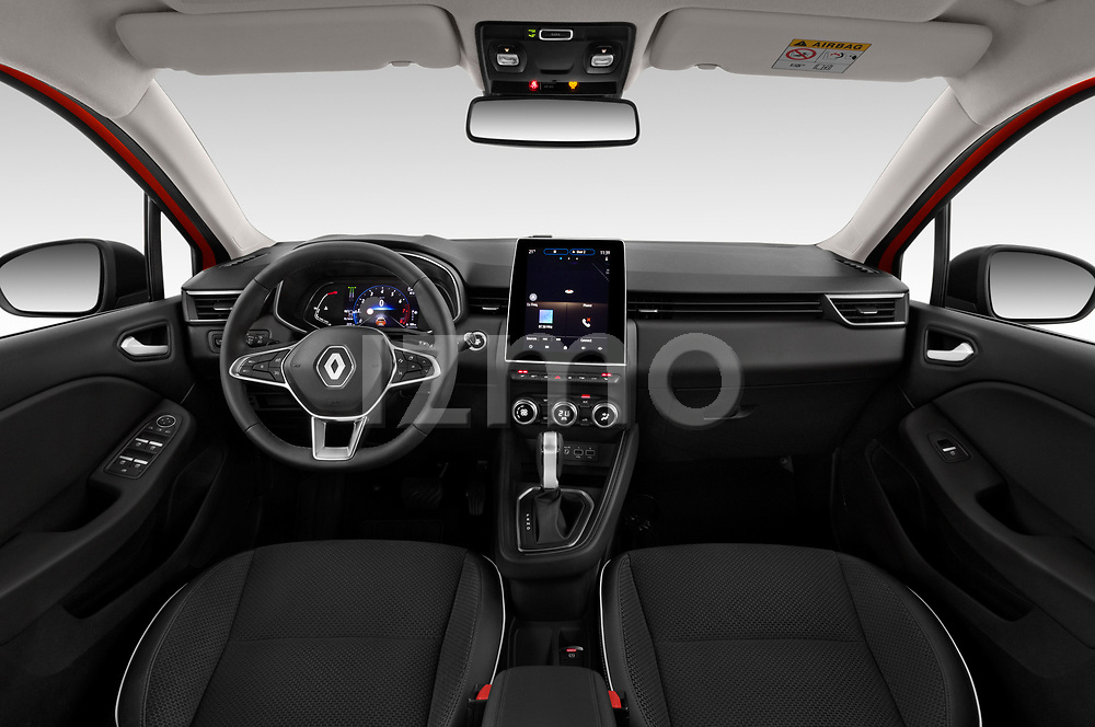 Stock photo of straight dashboard view of a 2020 Renault Clio Edition One 5 Door Hatchback