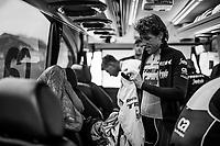 Koen de Kort (NED/Trek-Segafredo) pre-recon<br /> <br /> Team Trek-Segafredo during parcours recon of the 116th Paris-Roubaix 2018, 3 days prior to the race