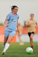 Danielle Johnson (15) of Sky Blue FC. FC Gold Pride defeated Sky Blue FC 1-0 during a Women's Professional Soccer (WPS) match at Yurcak Field in Piscataway, NJ, on May 1, 2010.