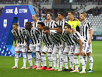 TORINO ITALY- October 2 <br /> Stadio Olimpico Grande Torino<br /> Fc Juventus Start linneup<br /> during the Serie A match between Fc  Torino and Juventus Fc at Stadio Olimpico on October 2, 2021 in Torino, Italy.