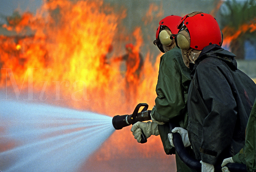 Navy firemen training