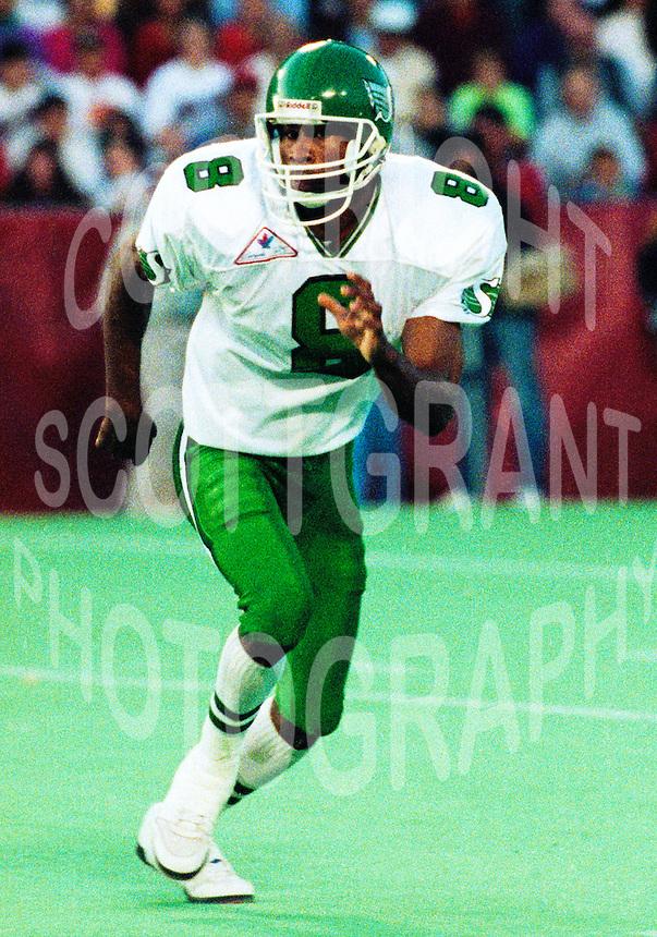 Charles Anthony Saskatchewan Roughriders 1992. Photo F. Scott Grant