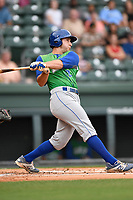 First baseman Joe Dudek (26) of the Lexington Legends bats in a game against the Greenville Drive on Friday, June 30, 2017, at Fluor Field at the West End in Greenville, South Carolina. Lexington won, 17-7. (Tom Priddy/Four Seam Images)