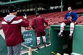 - The UMass Minutemen practiced at Fenway Park on Friday, January 6, 2017, in Boston, Massachusetts.