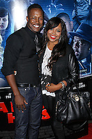 """LOS ANGELES, CA, USA - APRIL 16: Flex Alexander, Shanice at the Los Angeles Premiere Of Open Road Films' """"A Haunted House 2"""" held at Regal Cinemas L.A. Live on April 16, 2014 in Los Angeles, California, United States. (Photo by Xavier Collin/Celebrity Monitor)"""