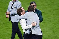 6th July 2021; Wembley Stadium, London, England; Euro 2020 Football Championships semi-final, Italy versus Spain;  Roberto Mancini celebrates the win