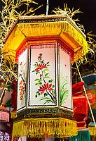 Wenzhou, Zhejiang, China.  Bamboo Filament Lantern, Intangible Cultural Heritage Museum.