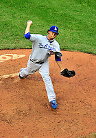 24 April 2010: Los Angeles Dodgers' relief pitcher Ramon Troncoso on the mound against the Washington Nationals at Nationals Park in Washington, DC. The Dodgers edged out the Nationals 4-3. Mandatory Credit: Ed Wolfstein Photo