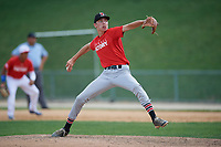 Pitcher Logan Strutz (10) during the Dominican Prospect League Elite Underclass International Series, powered by Baseball Factory, on August 2, 2017 at Silver Cross Field in Joliet, Illinois.  (Mike Janes/Four Seam Images)