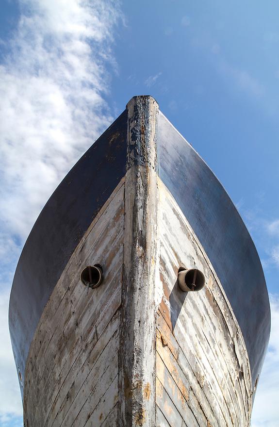 Interesting boat hulls at the marina.