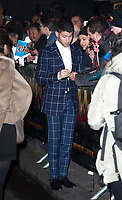 December 5 2017, PARIS FRANCE Premiere of Jumanji : Welcome to the Jungle at the Grand Rex Paris. Actor Nick Jonas arrives and signs autographs.