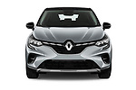 Car photography straight front view of a 2021 Renault Captur Intense 5 Door SUV Front View