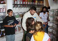 18 September 2021 - Las Vegas, NV - Mason Disick, Scott Disick,  Penelope Disick, Reign Disick. Scott Disick Celebrates the Grand Opening of The Sugar Factory Las Vegas At Harmon Corner. Photo Credit: MJT/AdMedia