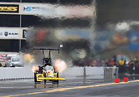 Sep 14, 2019; Mohnton, PA, USA; NHRA top fuel driver Richie Crampton during qualifying for the Reading Nationals at Maple Grove Raceway. Mandatory Credit: Mark J. Rebilas-USA TODAY Sports