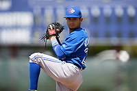 Toronto Blue Jays pitcher Guillermo Villasmil (20) during an Extended Spring Training game against the Philadelphia Phillies on June 12, 2021 at the Carpenter Complex in Clearwater, Florida. (Mike Janes/Four Seam Images)