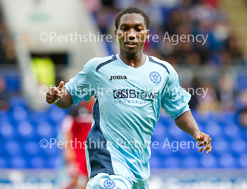 St Johnstone FC...Season 2012-13.Keammar Daley.Picture by Graeme Hart..Copyright Perthshire Picture Agency.Tel: 01738 623350  Mobile: 07990 594431