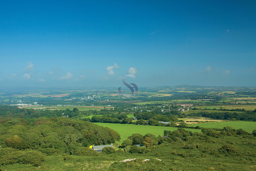 The view from Trencrom Hill near Lelant Downs, Cornwall