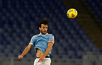 Lazio s Marco Parolo heads the ball during the Serie A soccer match between Lazio and Hellas Verona at Rome's Olympic Stadium, December 12, 2020.<br /> UPDATE IMAGES PRESS/Riccardo De Luca