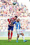 Stefan Savic of Atletico de Madrid and Martin Braithwaite of CD Leganes during La Liga match between Atletico de Madrid and CD Leganes at Wanda Metropolitano Stadium in Madrid, Spain. January 26, 2020. (ALTERPHOTOS/A. Perez Meca)