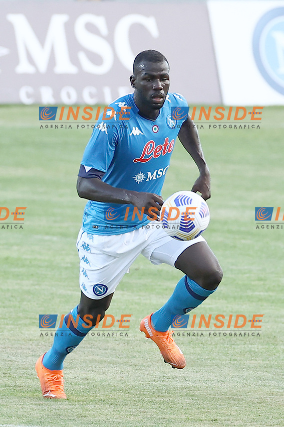 Kalidou Koulibaly of SSC Napoli<br /> during the friendly football match between SSC Napoli and Castel di Sangro Cep 1953 at stadio Patini in Castel di Sangro, Italy, August 28, 2020. <br /> Photo Cesare Purini / Insidefoto