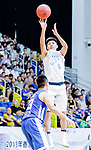 Lam Yu #4 of Fukien Basketball Team tries to score against the Eastern Long Lions during the Hong Kong Basketball League game between Fukien and Eastern Long Lions at Southorn Stadium on June 19, 2018 in Hong Kong. Photo by Yu Chun Christopher Wong / Power Sport Images