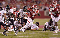 NWA Democrat-Gazette/BEN GOFF @NWABENGOFF<br /> Alex Collins, Arkansas running back, carries the ball in the fourth quarter on Saturday Sept. 19, 2015 during the game against Texas Tech in Razorback Stadium in Fayetteville.