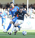 21/03/2009  Copyright Pic: James Stewart.File Name : sct_jspa03_falkirk_v_ICT.MARK STEWART HOLDS OFF RUSSELL DUNCAN.James Stewart Photography 19 Carronlea Drive, Falkirk. FK2 8DN      Vat Reg No. 607 6932 25.Telephone      : +44 (0)1324 570291 .Mobile              : +44 (0)7721 416997.E-mail  :  jim@jspa.co.uk.If you require further information then contact Jim Stewart on any of the numbers above.........