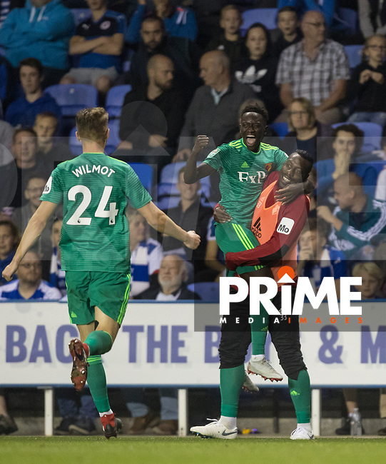Domingos Quina of Watford celebrates his goal during the Carabao Cup Round 2 match between Reading and Watford at the Madejski Stadium, Reading, England on 29 August 2018. Photo by Andy Rowland