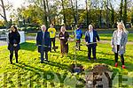 Planting a tree for Pieta House in CBS The Green on Friday. L to r: Caroline Crowley, Fr Tadgh Fitzgerald, Principal Ann O'Callaghan, Jordan Kissane, Munna Lukes, Con O'Connor (Pieta House) and Karen Tobin (Well Being Co-Ordinator).