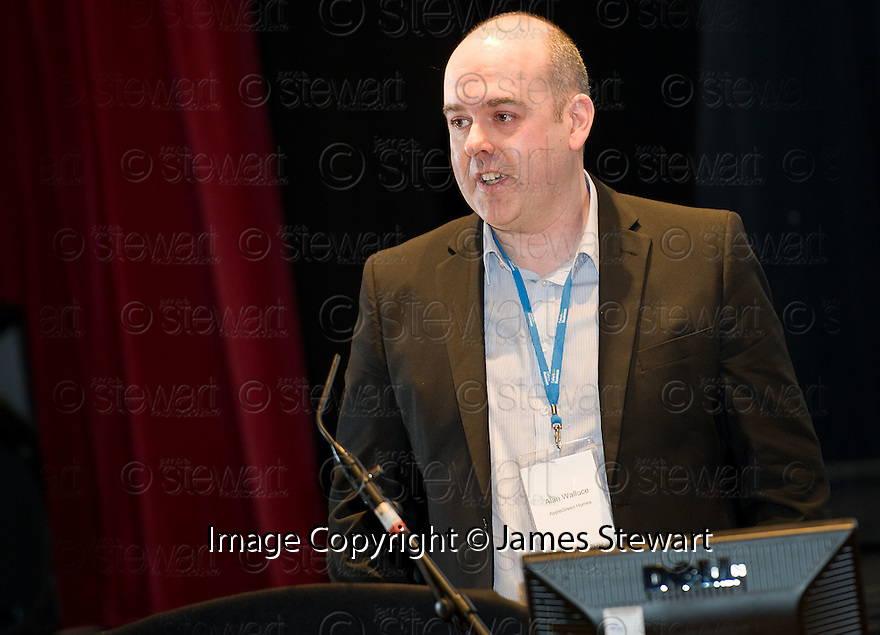 Alan Wallace, AppleGreen Homes, at the Falkirk Business Panel Update Event 2012, Falkirk Town Hall...