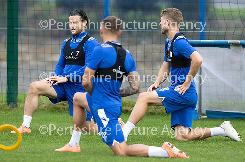 St Johnstone Training…..11.08.20  <br />Craig Conway pictured during training at McDiarmid Park ahead of tomorrow night's game at Rangers.<br />Picture by Graeme Hart.<br />Copyright Perthshire Picture Agency<br />Tel: 01738 623350  Mobile: 07990 594431