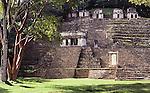 Gran Plaza with Acropolis in Bonampak, Mexico, Central America