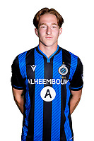 20th August 2020, Brugge, Belgium;  Xander Blomme pictured during the team photo shoot of Club Brugge NXT prior the Proximus league football season 2020 - 2021 at the Belfius Base camp